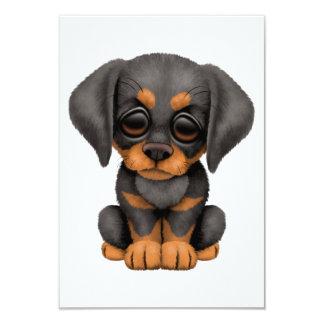 """Perro de perrito lindo del Pinscher del Doberman Invitación 3.5"""" X 5"""""""