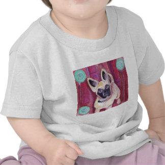 Perro de perrito lindo pintado camisetas