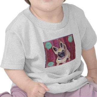 Perro de perrito lindo pintado camiseta