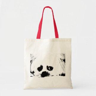 Perro de perrito maltés blanco adorable bolsas lienzo