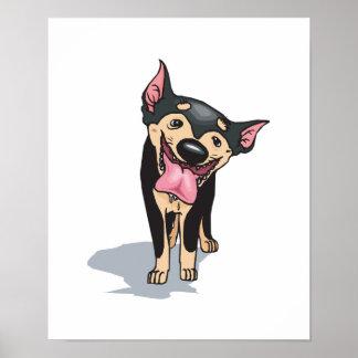 perro de perrito miniatura drooling del pincher impresiones
