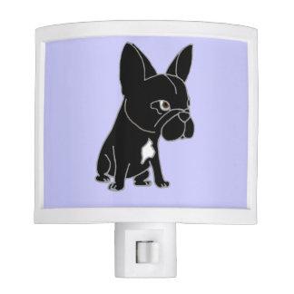 Perro de perrito negro divertido del dogo francés