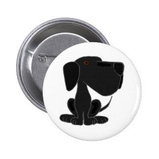 Perro de perrito negro enrrollado de Labrador Pins