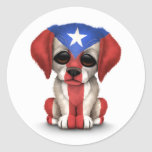 Perro de perrito patriótico lindo de la bandera de