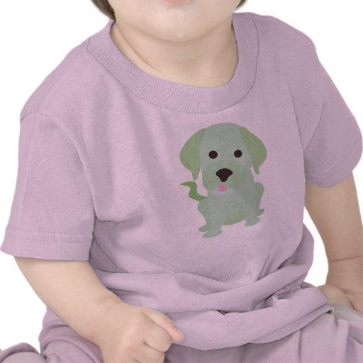 Perro de perrito verde claro camiseta