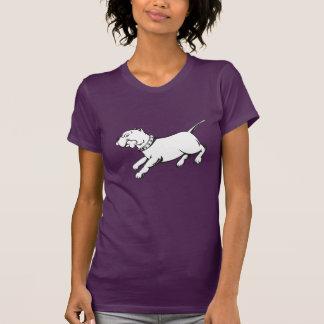 Perro de Pitbull del arte del vector - camiseta Polera