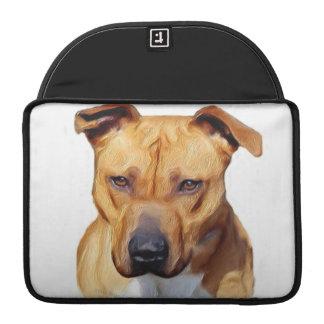 Perro de Pitbull Fundas Para Macbook Pro