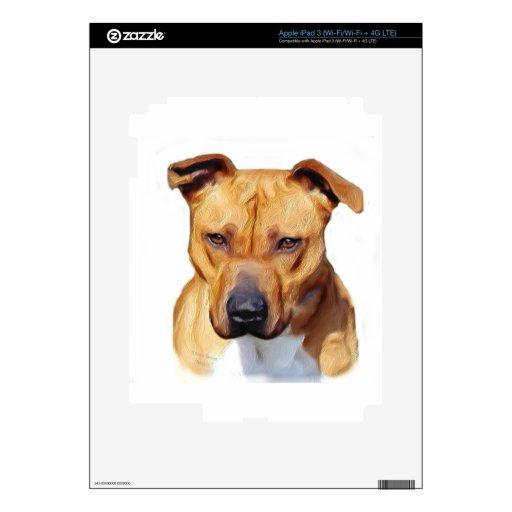 Perro de Pitbull iPad 3 Pegatina Skin