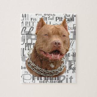 Perro de Pitbull Puzzle Con Fotos