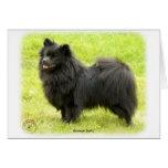 Perro de Pomerania alemán 9W014D-009 Felicitación