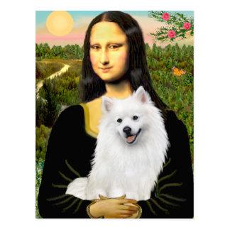 Perro de Pomerania esquimal 1 - Mona Lisa Postal