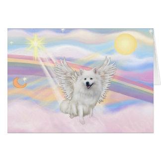 Perro de Pomerania esquimal americano Tarjeta