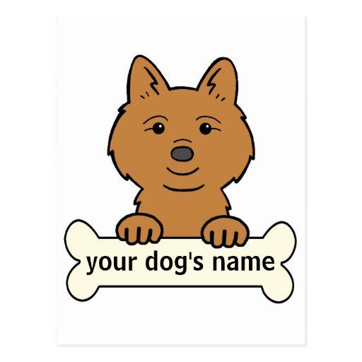 Perro de Pomerania finlandés personalizado Postales