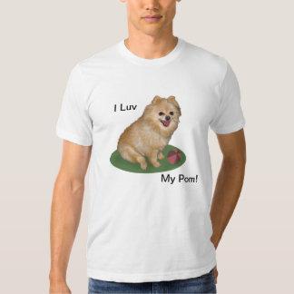 Perro de Pomeranian con personalizable de la bola Playera