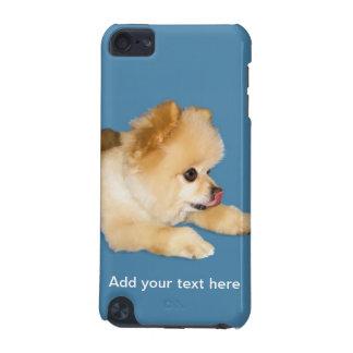 Perro de Pomeranian que pega la lengua hacia fuera Carcasa Para iPod Touch 5G