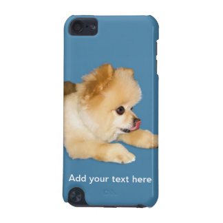 Perro de Pomeranian que pega la lengua hacia fuera Funda Para iPod Touch 5G