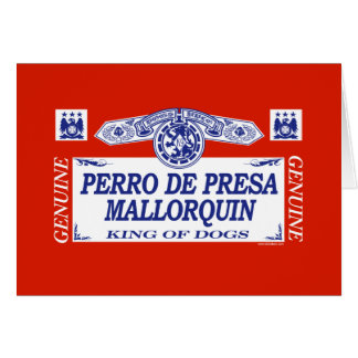 Perro De Presa Mallorquin Tarjeta De Felicitación