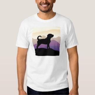 Perro de Puggle de las montañas púrpuras Camisas