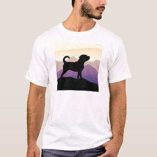 Perro de Puggle de las montañas púrpuras Playera