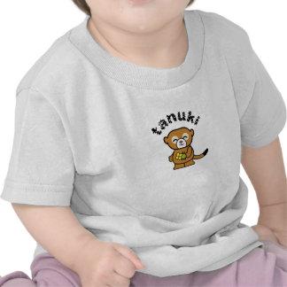 Perro de Racoon de Tanuki Camisetas
