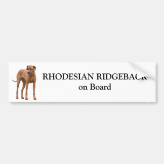 Perro de Rhodesian Ridgeback a bordo el pegatina d Pegatina Para Auto