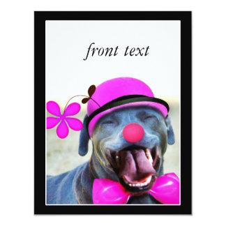 Perro de risa invitación 10,8 x 13,9 cm