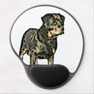 Perro de Rottweiler Alfombrillas De Raton Con Gel