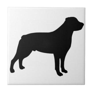 Perro de Rottweiler Azulejo Cuadrado Pequeño