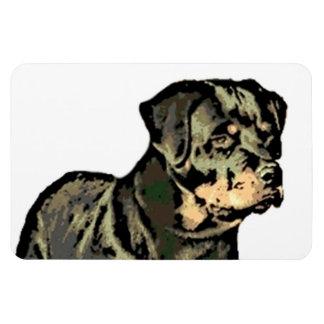 Perro de Rottweiler Iman Rectangular