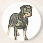 Perro de Rottweiler Posavasos Manualidades