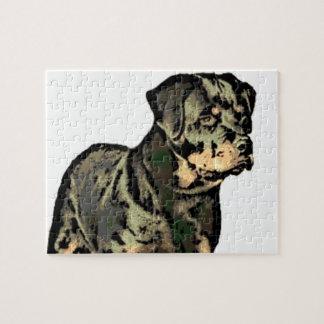 Perro de Rottweiler Rompecabeza