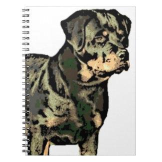 Perro de Rottweiler Spiral Notebook