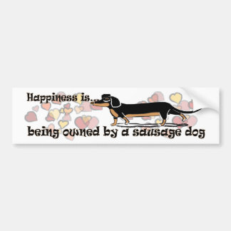 perro de salchicha pegatina para auto