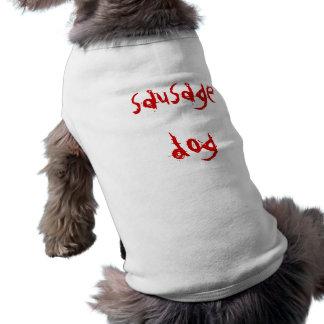 perro de salchicha playera sin mangas para perro