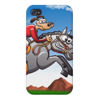 Perro de salto ecuestre iPhone 4/4S fundas