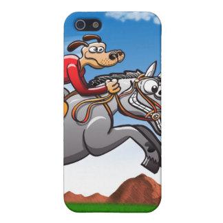 Perro de salto ecuestre iPhone 5 carcasa