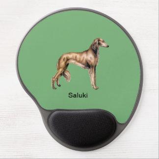 Perro de Saluki - cojín de ratón adaptable del gel Alfombrillas Con Gel