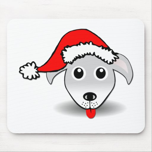 Perro de Santa Mousepads