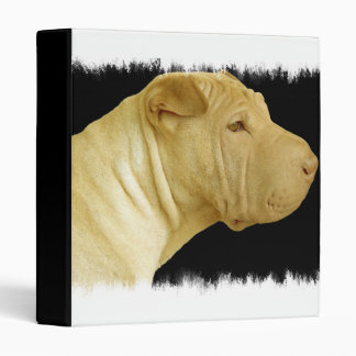 Perro de Shar Pei en una carpeta