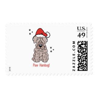 Perro de Sharpei del navidad Sellos