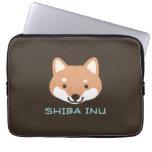 Perro de Shiba Inu con el texto de encargo Funda Ordendadores