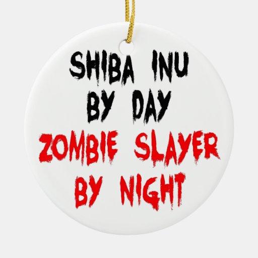 Perro de Shiba Inu del asesino del zombi Adorno