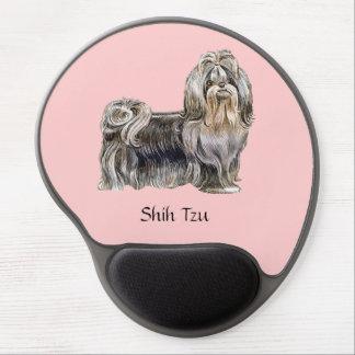 Perro de Shih Tzu - cojín de ratón del gel Alfombrilla De Raton Con Gel