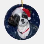 Perro de Shih Tzu del navidad Adornos De Navidad