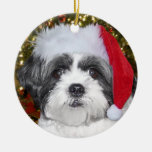 Perro de Shih Tzu del navidad Ornamentos De Reyes Magos