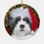 Perro de Shih Tzu del navidad Ornamente De Reyes