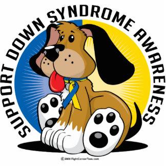 Perro de Síndrome de Down Fotoescultura Vertical