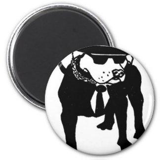 Perro de Ska de dos tonos Imán Redondo 5 Cm