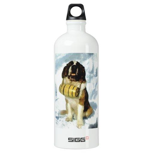 Perro de St Bernard, rescate de la montaña