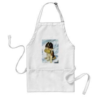 Perro de St Bernard, rescate de la montaña Delantal